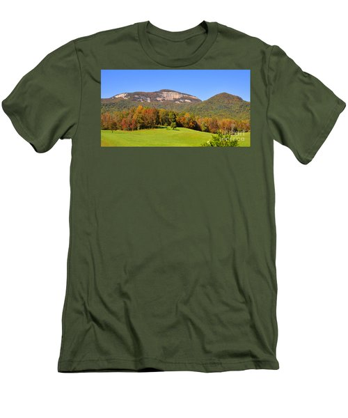 Table Rock In Autumn Men's T-Shirt (Slim Fit) by Lydia Holly