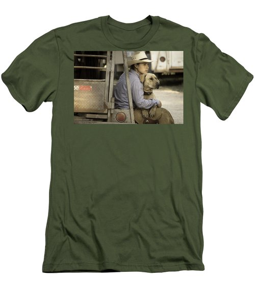 Men's T-Shirt (Slim Fit) featuring the photograph Tailgate Friends by Steven Bateson