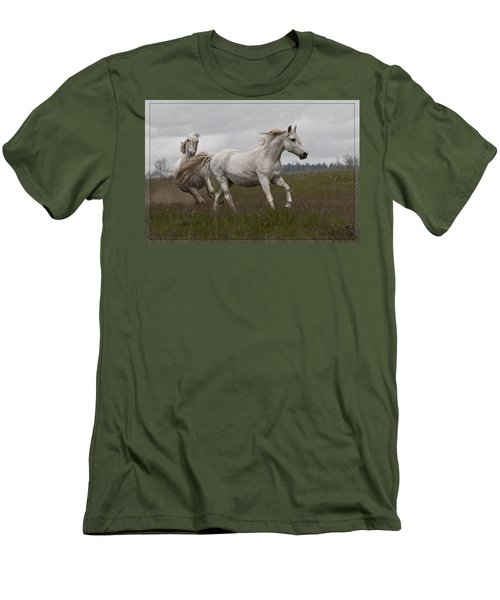Men's T-Shirt (Slim Fit) featuring the photograph Talegating 5924 by Wes and Dotty Weber