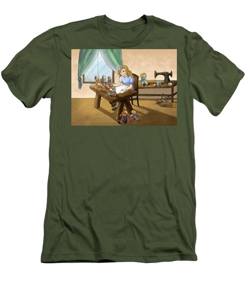 Men's T-Shirt (Slim Fit) featuring the painting Tammy The Little Doll Girl  by Reynold Jay
