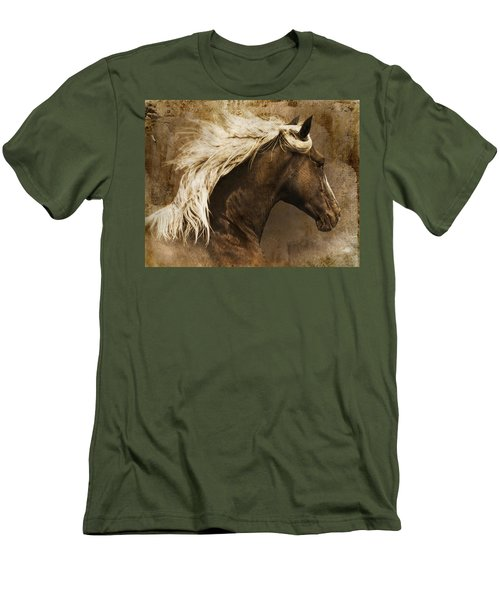 Men's T-Shirt (Slim Fit) featuring the photograph Taos by Priscilla Burgers