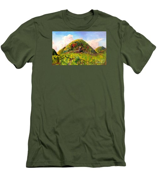 Men's T-Shirt (Slim Fit) featuring the painting Taro Garden Of Papua by Jason Sentuf