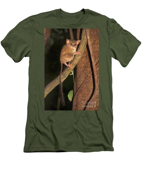 Men's T-Shirt (Slim Fit) featuring the photograph Tarsius Tarsier  by Sergey Lukashin