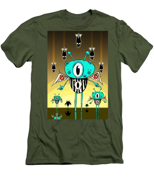 Team Alien Men's T-Shirt (Slim Fit) by Johan Lilja