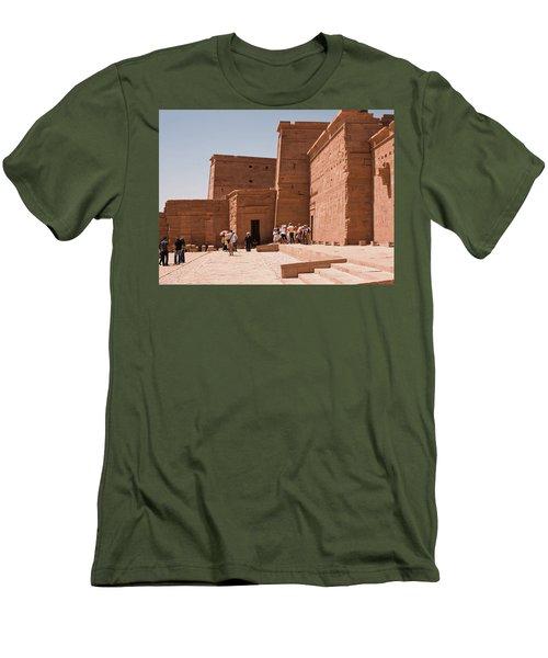 Temple Building Men's T-Shirt (Slim Fit) by James Gay