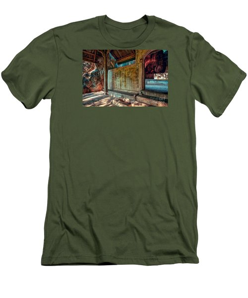 Temple Cave Men's T-Shirt (Slim Fit) by Adrian Evans