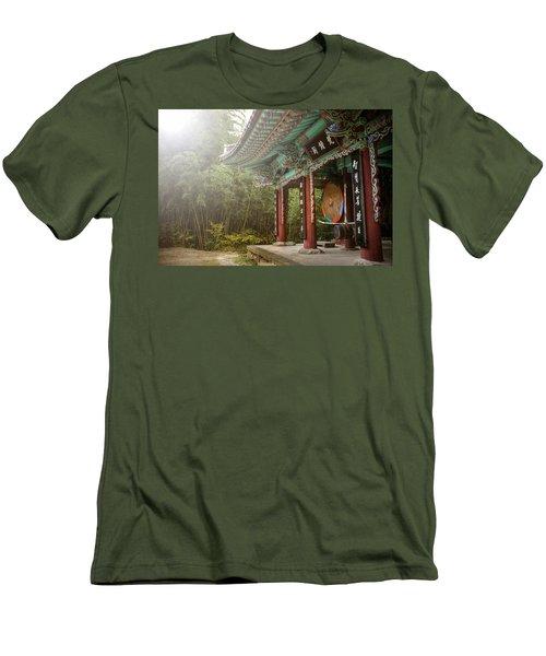 Temple Drum Men's T-Shirt (Athletic Fit)