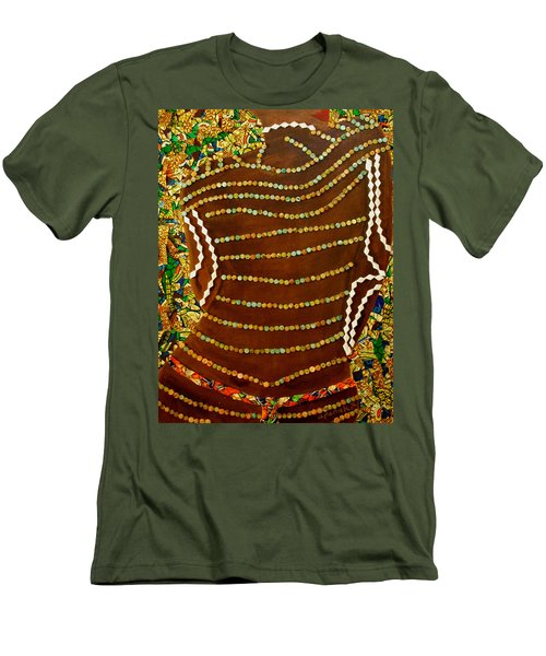 Men's T-Shirt (Athletic Fit) featuring the tapestry - textile Temple Of The Goddess Eye Vol 2 by Apanaki Temitayo M