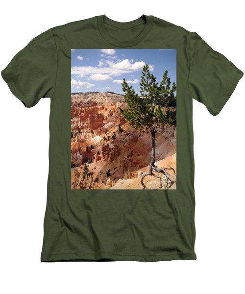 Men's T-Shirt (Slim Fit) featuring the photograph Tenacious by Meghan at FireBonnet Art