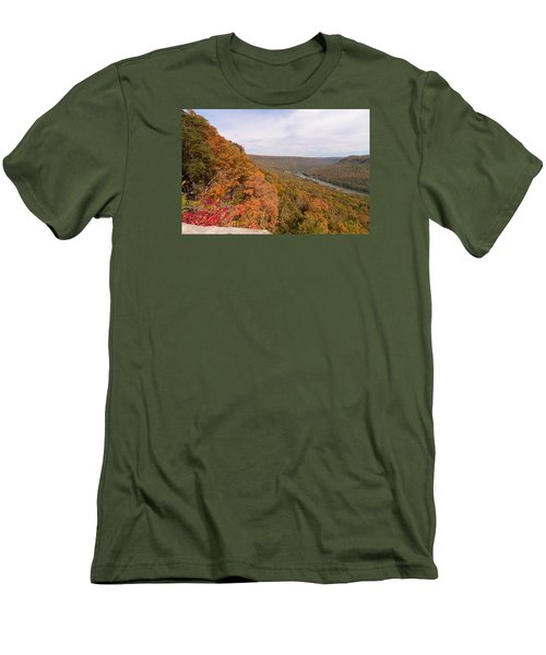 Men's T-Shirt (Slim Fit) featuring the photograph Tennessee Riverboat Fall by Paul Rebmann