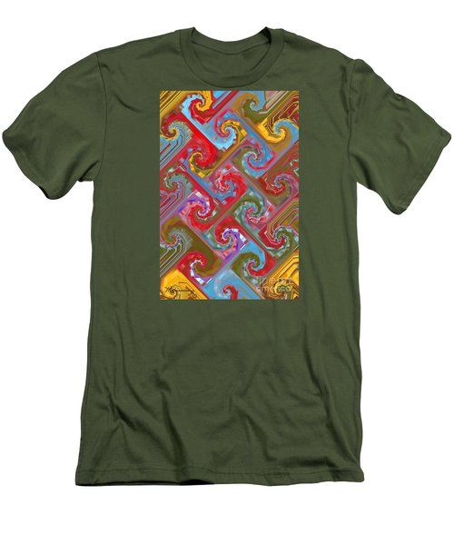 Men's T-Shirt (Slim Fit) featuring the digital art Tessellation by Mariarosa Rockefeller