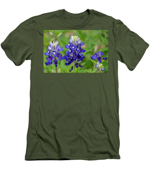 Texas Bluebonnets Men's T-Shirt (Slim Fit) by Debra Martz