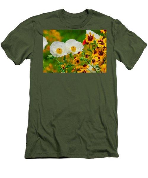Texas Wildflowers Men's T-Shirt (Slim Fit) by Lynn Bauer