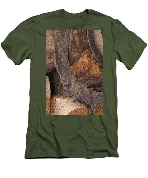 Textures 2 Men's T-Shirt (Slim Fit) by Fran Riley