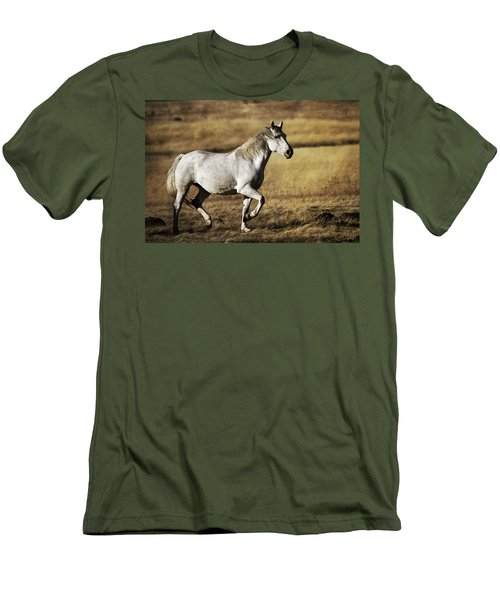 Men's T-Shirt (Slim Fit) featuring the photograph That Golden Hour D3550 by Wes and Dotty Weber