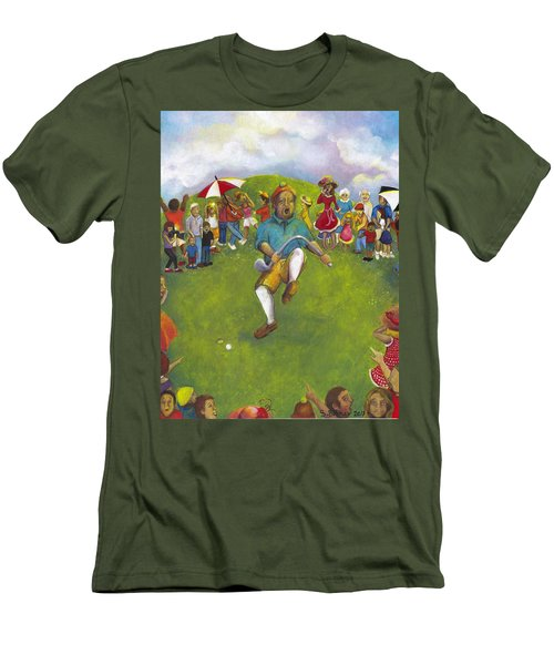 The Angry Golfer  Men's T-Shirt (Athletic Fit)