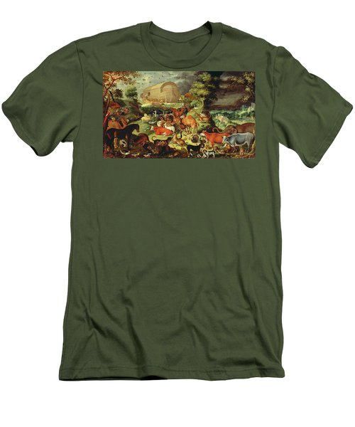 The Animals Entering The Ark Men's T-Shirt (Slim Fit) by Jacob II Savery