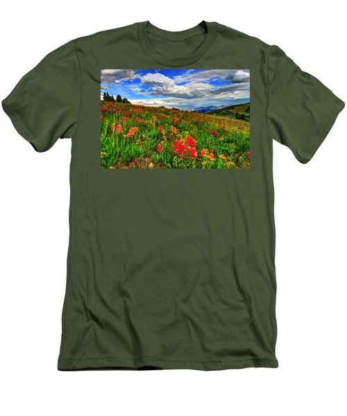 The Art Of Wildflowers Men's T-Shirt (Slim Fit) by Scott Mahon