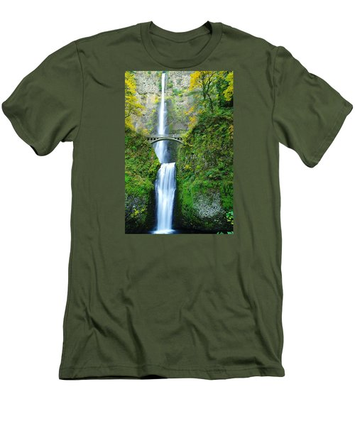 The Beauty Of Multnomah Falls Men's T-Shirt (Athletic Fit)