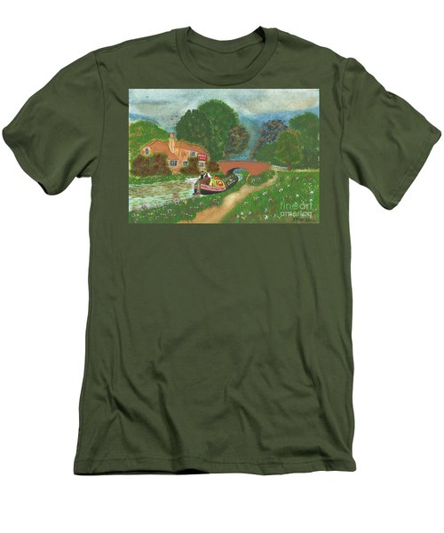 The Bridge Inn Men's T-Shirt (Slim Fit) by John Williams