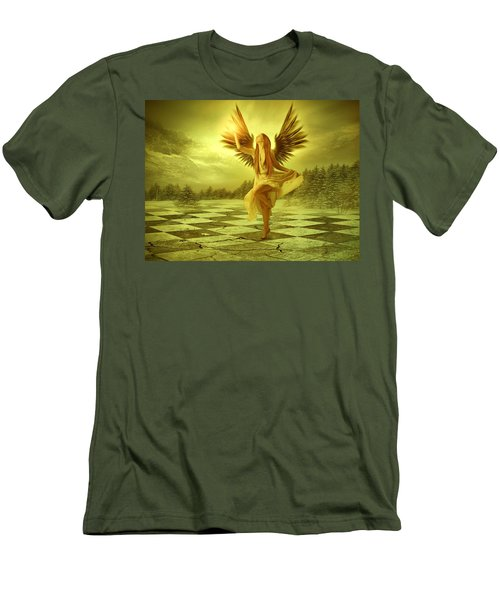 Men's T-Shirt (Slim Fit) featuring the photograph The Calling by Ester  Rogers