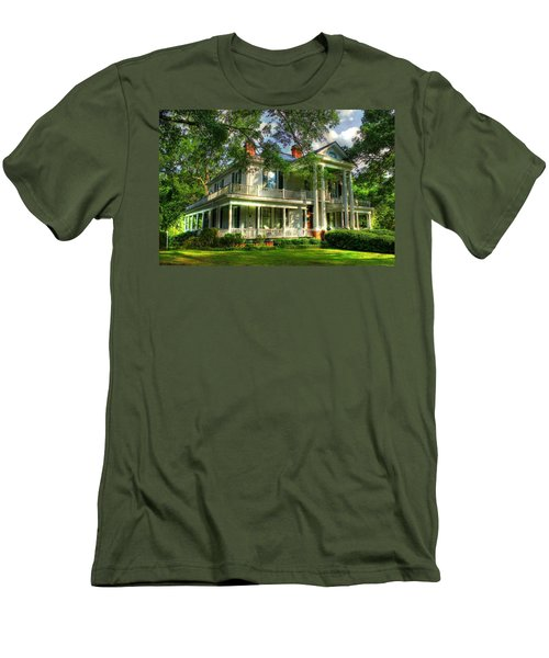 A Southern Bell The Carlton Home Art Southern Antebellum Art Men's T-Shirt (Slim Fit) by Reid Callaway