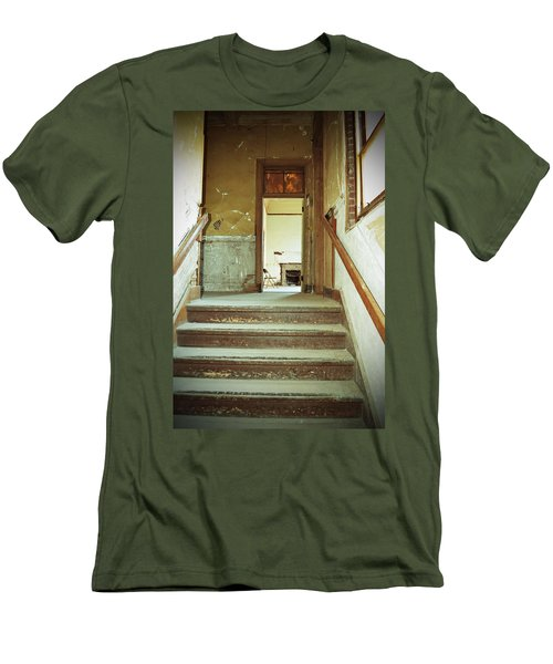 The Chair At The Top Of The Stairs Men's T-Shirt (Slim Fit) by Holly Blunkall