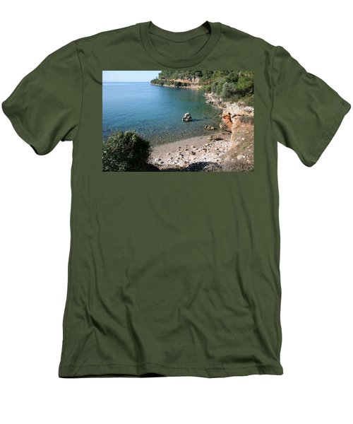 Men's T-Shirt (Slim Fit) featuring the photograph The Coast To Oren  by Tracey Harrington-Simpson