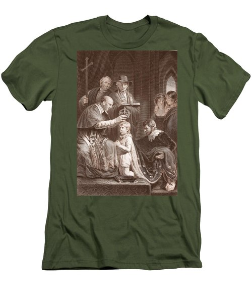 The Coronation Of Henry Vi, Engraved Men's T-Shirt (Slim Fit) by John Opie