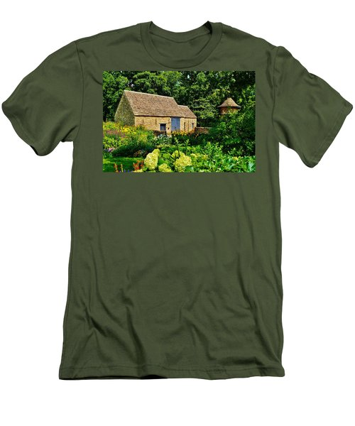 The Cotswald Barn And Dovecove Men's T-Shirt (Slim Fit) by Daniel Thompson