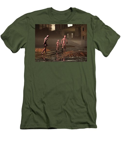 Men's T-Shirt (Slim Fit) featuring the digital art The Exiles Sojourn by John Alexander