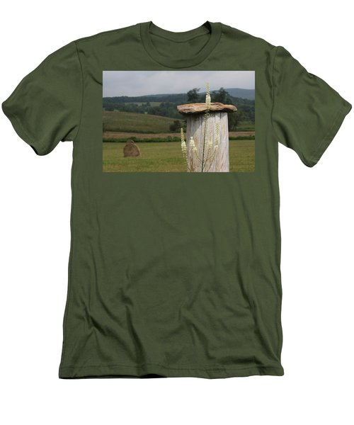 Fall Harvest Men's T-Shirt (Slim Fit) by Yvonne Wright