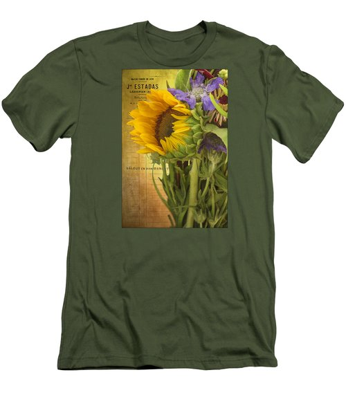 Men's T-Shirt (Slim Fit) featuring the photograph The Flower Market by Priscilla Burgers