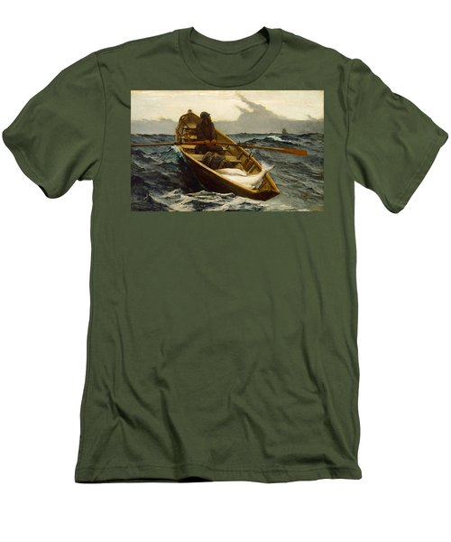 The Fog Warning Men's T-Shirt (Slim Fit) by Winslow Homer