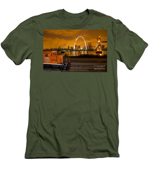 The Ftrl Railway With St Louis In The Background Men's T-Shirt (Athletic Fit)