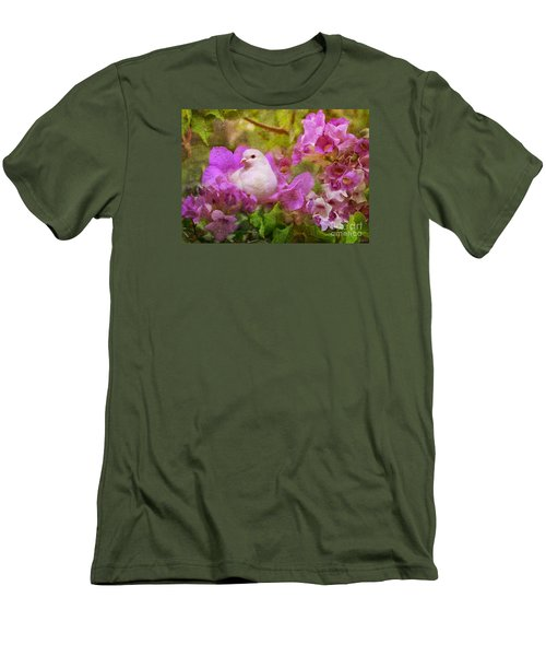 The Garden Of White Dove Men's T-Shirt (Slim Fit) by Olga Hamilton