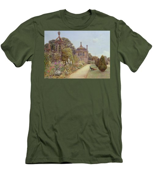 The Gardens At Montacute In Somerset Men's T-Shirt (Slim Fit) by Ernest Arthur Rowe