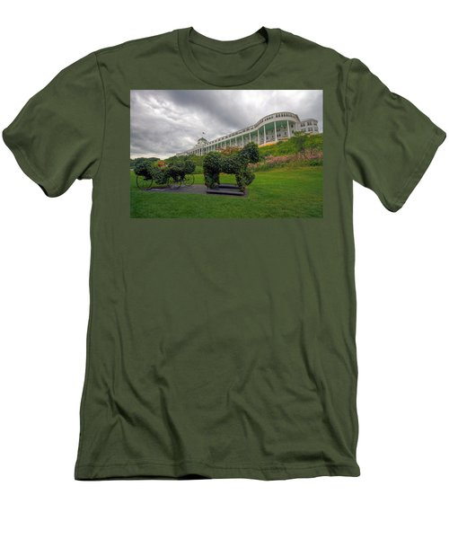 The Grand Hotel Mackinac Island Men's T-Shirt (Athletic Fit)