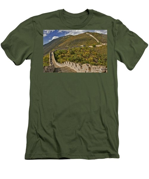 The Great Wall Of China At Mutianyu 2 Men's T-Shirt (Athletic Fit)