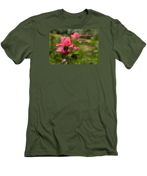 Men's T-Shirt (Slim Fit) featuring the photograph The Greatest Love by Larry Bishop