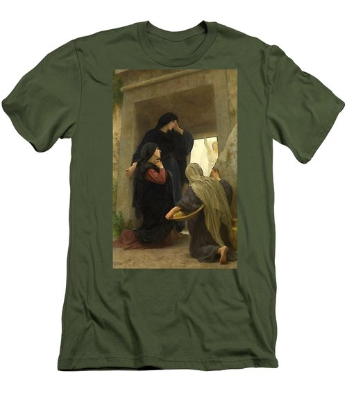 The Holy Women At The Tomb Men's T-Shirt (Slim Fit) by William Bouguereau