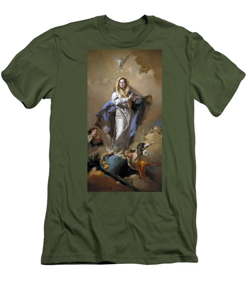 The Immaculate Conception Men's T-Shirt (Slim Fit) by Giovanni Battista Tiepolo