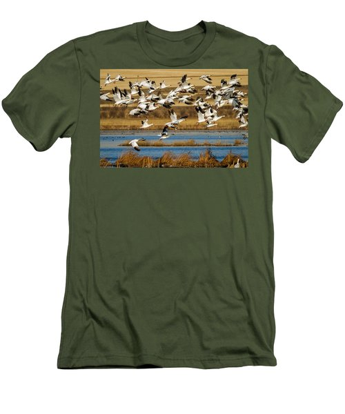 Men's T-Shirt (Slim Fit) featuring the photograph The Journey by Jack Bell