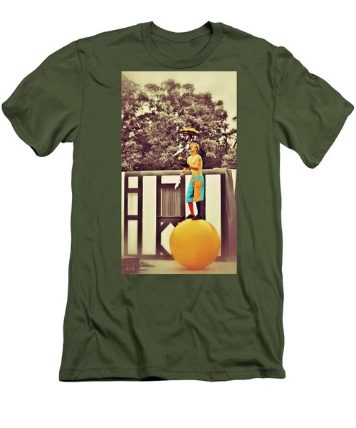 Men's T-Shirt (Slim Fit) featuring the photograph The Juggler by Jean Goodwin Brooks