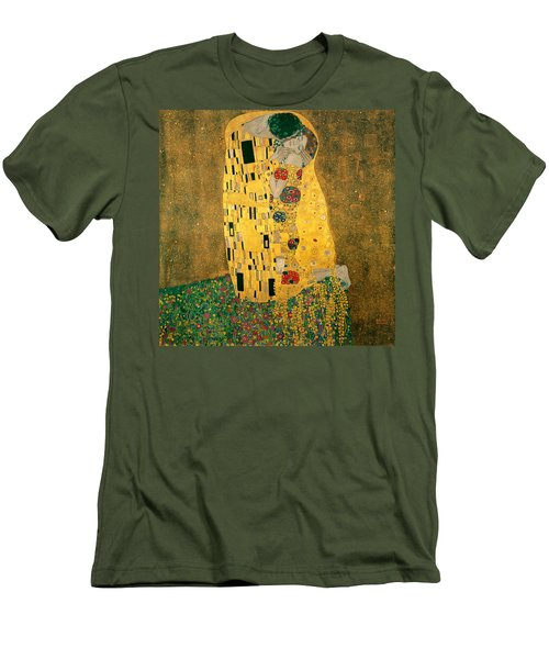 The Kiss Men's T-Shirt (Slim Fit) by Gustive Klimt