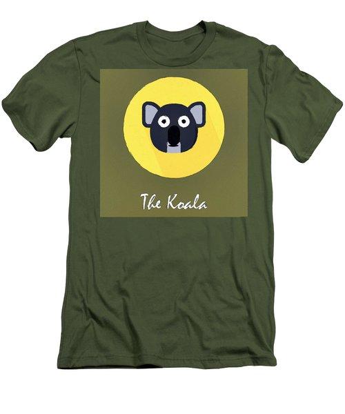 The Koala Cute Portrait Men's T-Shirt (Slim Fit) by Florian Rodarte