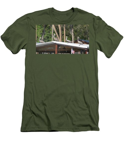 Men's T-Shirt (Slim Fit) featuring the photograph The Lineup by Fortunate Findings Shirley Dickerson