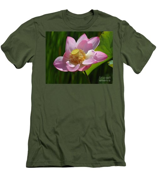 The Lotus Men's T-Shirt (Slim Fit) by Vivian Christopher