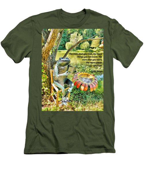 Men's T-Shirt (Slim Fit) featuring the photograph The More That You Read... by Jean Goodwin Brooks