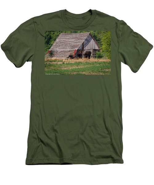 Men's T-Shirt (Slim Fit) featuring the photograph The Old Gray Barn by Nick Kirby